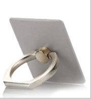 buy Sis Phone Stand, Multi-Angle Portable Stand 360 Rotation Luxury Zinc Alloy Ring Grip (Silver)