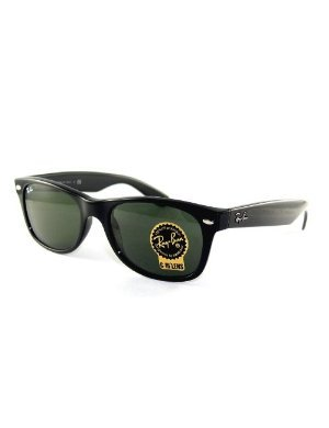 New Ray Ban Sunglass 2132 901 55-18 Black w/ Green RB2132