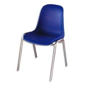 Chaise coque Lot de 1 Chaise empilable et accrochable bleue Elena