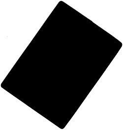 New Bridge Size Cut Card Black