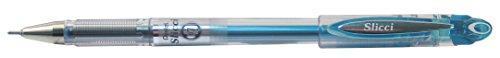 Pentel BG207 Slicci - Bolígrafo con tinta de gel (punta de aguja, 0,35 mm), color azul claro