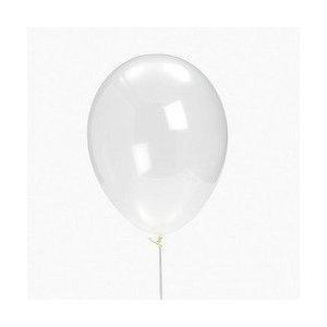 24 Diamond Clear Latex Balloons