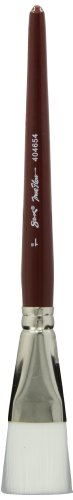 Sax Optimum White Taklon Flat Brushes with Short Handle - 1 inch