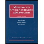 img - for Mediation and Other Non Binding Adr Processes (University Casebook) by Rau, Alan Scott, Sherman, Edward F. (2002) Paperback book / textbook / text book