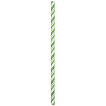 Fresh Lime Striped Paper Straws (24ct)