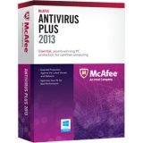 McAfee Antivirus 2013 Plus 1 PC - 1 Year