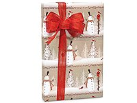 Woodland SNOWMEN Snowman Christmas Gift Wrap Wrapping Paper – 16ft Roll