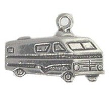Sterling Silver Rv Motorhome Recreational Vehicle Vacation Travel Tour Charm