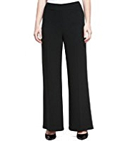 M&S Collection Double Crêpe Wide Leg Trousers