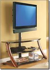 "Whalen Furniture 3-in-1 TV Stand for Flat-Panel TVs Up to 60"" or"