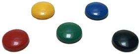 5 Kühlschrankmagnete Magnettafel Memohalter für Kühlschrank oder Memoboard rot, gelb, grün, blau, schwarz
