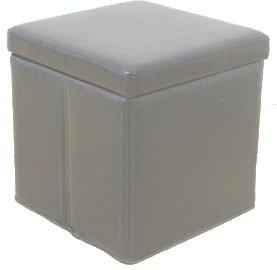 Leather folding white ottoman storage blanket box cube for White ottoman storage box
