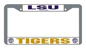 Louisiana State (LSU) Tigers Chrome License Plate Frame - Set of 2 (Louisiana License Plate Frame compare prices)