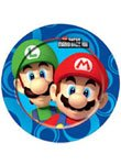 Super Mario Bros Wii Party Plates x 8