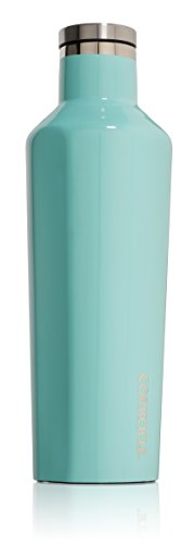 Corkcicle Canteen Insulated Stainless Steel Bottle/Thermos, 16 oz, Turquoise