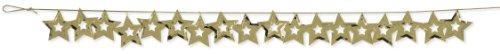 Creative Converting Metallic Stars Confetti Party Garland, Gold