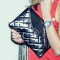 Lipsy Quilted Clutch Bag
