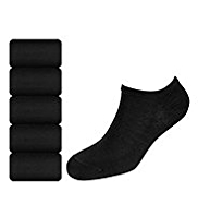 5 Pairs of Plain Trainer Liner Socks