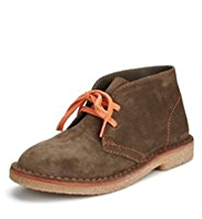 Suede Lace Up Desert Boots