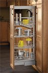 Soft-Close Chrome Wire Pantry Pull-Out, 14-3/4