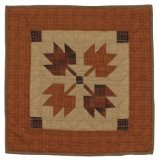 Autumn Leaves Wall Hanging Quilt 18 Inches by 18 Inches 100% Cotton Handmade Hand Quilted Heirloom Quality