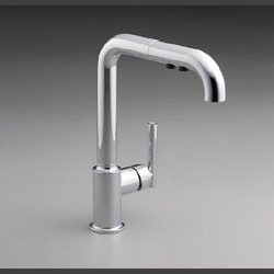 KOHLER K-7505-BL Purist Primary Pullout Kitchen Faucet, Matte Black