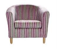 April Pink Strip Tub Chair