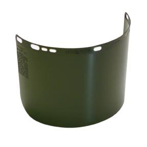 SHADE 5 SAFETY VISOR ONLY SHADE 5 WELDING GREEN LARGE SIZE 15 1/2'' X 8''