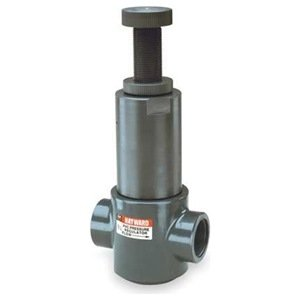 "Hayward CPVC Pressure Regulator, FPM Seal, 1-1/2"" Threaded"