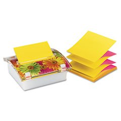 ** Pop-up Note Dispenser with Designer Daisy Insert, One 45-Sheet Pad,