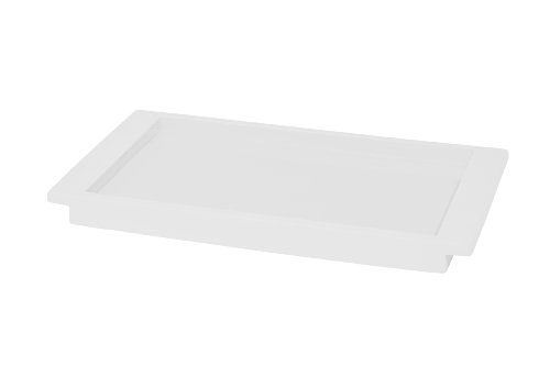 Kassatex Lacca Bath Accessories Tray, White
