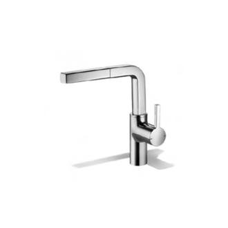 KWC Faucets 10.191.103.000 AVA Pull Out Semi Kitchen Faucet, 1 Spray, Chrome