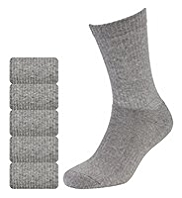 5 Pairs of Cool & Fresh Cotton Rich Sports Socks with Silver Technology