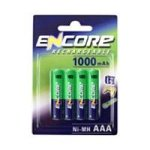 192326: UniRoss Encore Nickel Metal Hydride (NiMH) 1000mAh Rechargeable AAA Batteries (4 Pack) (EN0032A)