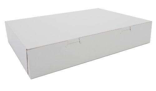 "Southern Champion Tray 1032 Clay Coated Kraft Paperboard White Donut Box, 15"" Length X 11-3/16"" Width X 2-3/4"" Height (Case Of 100)"