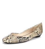 Autograph Leather Animal Print Panelled Pumps with Insolia Flex®