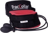 "Traccollar By Body Sport, Red, Fits 14"" - 16"" Portable and Lightweight Traction Collar Gently Stretches and Relaxes Muscles for Pain Relief"