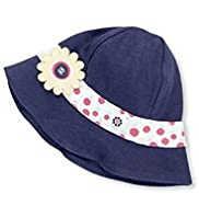 Pure Cotton Floral Corsage Sun Hat