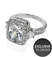 M&S Collection Platinum Plated Vintage Style Rocks Ring