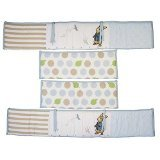 Lambs & Ivy Peter Rabbit 4 piece Crib Bumper