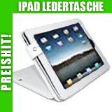 """Stylische - IPAD LEDERTASCHE - Weiss - Schutzh�lle / Case Etui mit Standfunktion f�r Apple iPad - Bookstyle Tasche / Tischhaltervon """"SD-Trade"""""""