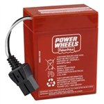 Fisher Price 6 Volt Red Power Wheels Battery front-854952