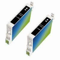 Amsahr T0548 Remanufactured Replacement Epson Ink Cartridges for Printers/Faxes with 2 Matte Black Cartridges Ink