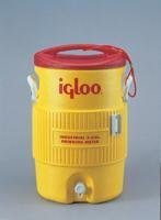 400 Series Coolers - 2 Gal Yellow/Redplastic Ind front-210558