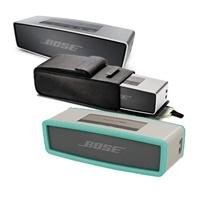 Bose Soundlink Mini Bluetooth Speaker, Up To 30 Ft Wireless Range, Silver - Bundle With Bose Sl Mini Speaker Travel Bag, Bose Mini Bluetooth Speaker Soft Cover - Mint