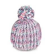 Multi Space-Dye Design Knitted Bobble Hat