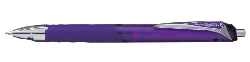 Pentel KL257-V - Bolígrafo roller retráctil de gel, 0,35 mm, 12 unidades, color violeta