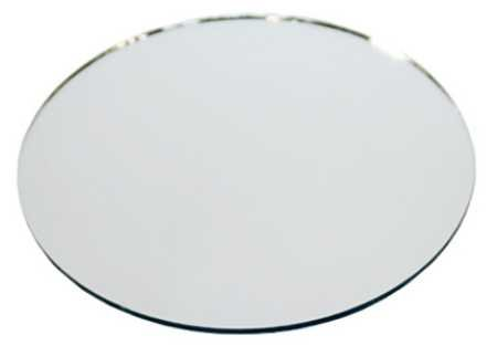 set of ten 12 inch round glass table mirrors for wedding