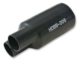 3M HDBB-205-1-250 HEAT SHRINK BOOT, 1 TO 2 TRANS, 20.32MM ID, PO, BLK