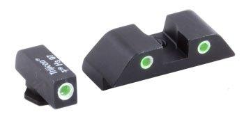 Ameriglo Glock Tritium Sight - Classic Style Night Sights. Classic Style ( Setscrew Rear), 3 Dot Green/Green. Model # Gl-119-U